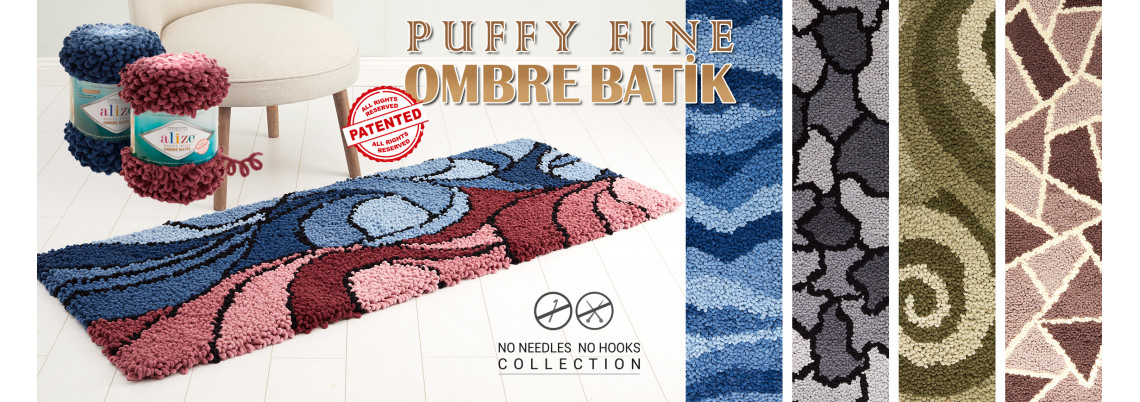 Puffy Fine /ombre Batik
